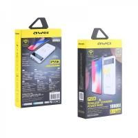 AWEI P55K WIRELESS CHARGER POWER BANK 10000 MAH